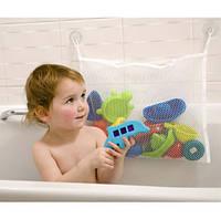 Сетка органайзер для хранения игрушек в ванной + 2 вакуумных крючка
