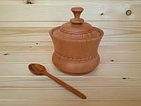 Сахарница деревянная большая 12.5х9.5 см
