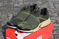 Мужские кроссовки Nike Air Presto, плотная сетка, цвета хаки / кроссовки для бега мужские Найк Аир Престо