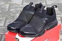 Мужские кроссовки Nike Air Presto, плотная сетка, черные / кроссовки для бега мужские Найк Аир Престо, модные