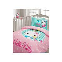 Детский набор в кроватку для младенцев Karaca Home Hello Kitty зеленый (7 предметов)