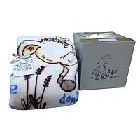 Детский плед в кроватку Karaca Home Donkey's World акрил крем 100х120см