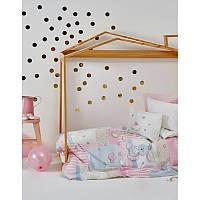 Детский плед в кроватку Karaca Home Honey Bunny pink 2017-1 100х120см