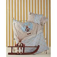 Постельное белье для младенцев Karaca Home Deer апликация голубое