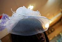 """Шляпка """"Роза"""", для невесты, для подружки невесты."""