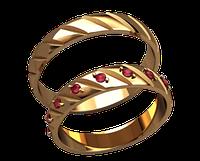 Обручальное кольцо 20027