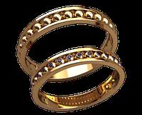 Обручальное кольцо 20025