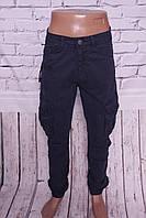 Мужские джинсы-карго с манжетами на резинке Gallop 30- 36 размер
