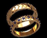 Обручальное кольцо 20020