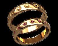 Обручальное кольцо 20019