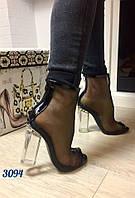Босоножки женские в стиле DioR стекло каблук 37, 39, 40, 41