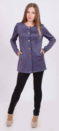 Пиджак женский удлиненный серый, фото 2