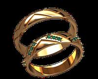 Обручальное кольцо 20018