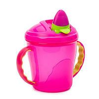 Чашка-поильник Vital Baby розовая, 180мл