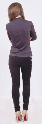 Пиджак женский короткий т.серый, фото 2