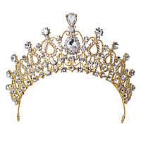Корона, диадема, тиара под золото, высота 6,5 см.