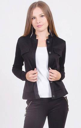 Пиджак женский короткий черный, фото 2