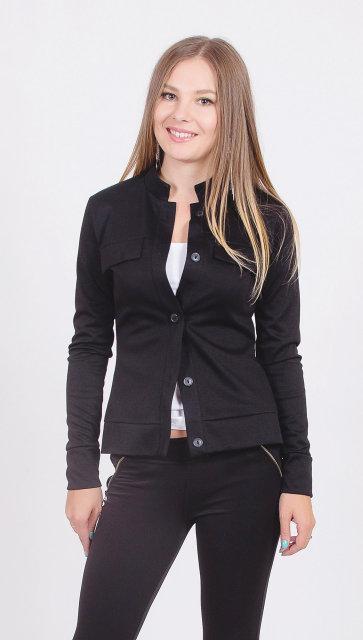 Пиджак женский короткий черный