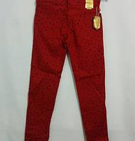 Красные брюки на девочку 8-12 лет