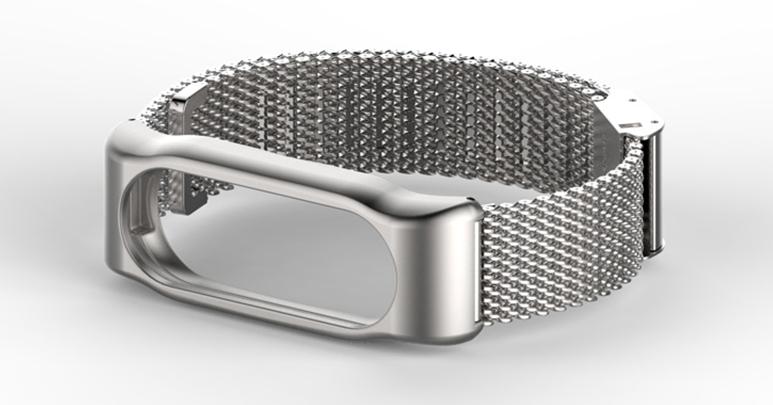 Металлический сетчатый ремешок Primolux Mijobs для фитнес-браслета Xiaomi Mi Band 2 - Silver