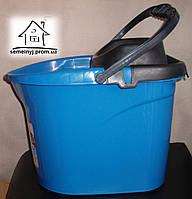 Ведро с отжимом Elif Plastik синее