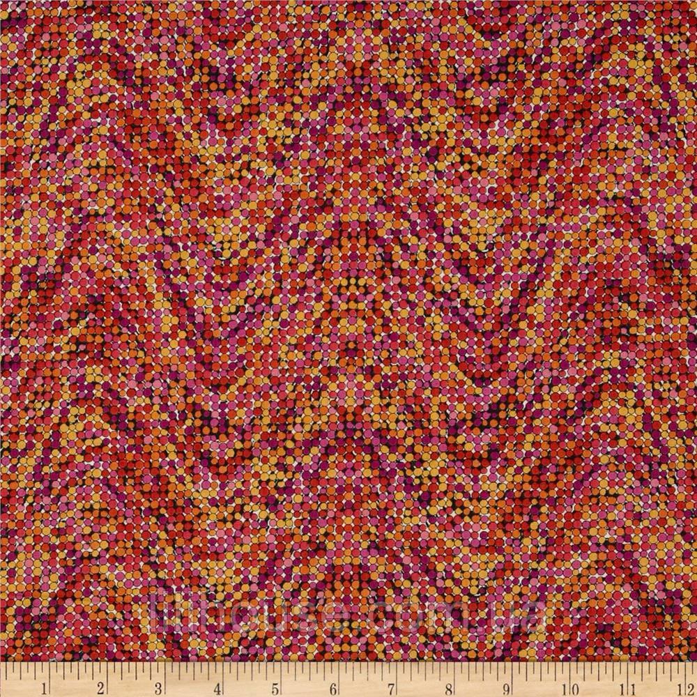 """Ткань для пэчворка и рукоделия американский хлопок """"Бисер фуксия"""" - 21*55 см"""