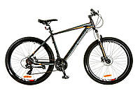 "Велосипед 27.5"" Optimabikes F-1 AM 14G HDD рама-19"" Al черно-оранжевый (м) 2017"