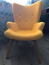 Дизайнерское кресло Флорино с оттоманкой желтое точная копия Featherston R160 Contour Chair, фото 2