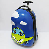 """Детский пластиковый чемодан  """"Самолет""""                                                                  R"""