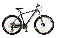 "Велосипед 29"" Optimabikes F-1 AM 14G HDD рама-21"" Al черно-оранжевый (м) 2017"