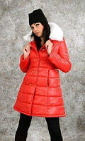 Куртка осень-зима с меховым воротником