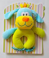 Мягкая плюшевая погремушка Собака-барабака, развивающая игрушка для малышей