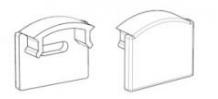 Комплект. Профиль для светодиодной ленты накладной 7х16 мм. ЛП7. Матовый. Анодированный., фото 2