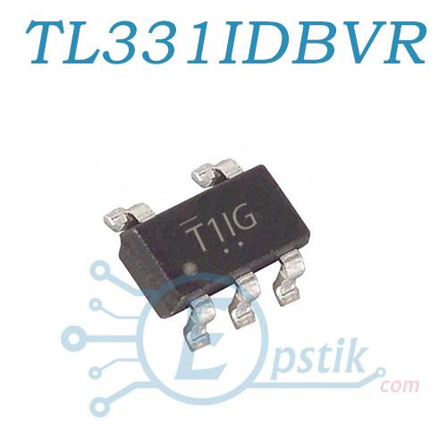 Компаратор TL331IDBVR (T1IG) дифференциальный, SOT23-5