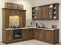 Кухня дубовый фасад, кухонные фасады из массива дуба, ольхи (модель 2)
