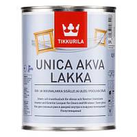 Акрилатный лак на водной основе TIKKURILA УНИКА АКВА ЛАККА, 0,9 л