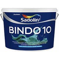 Матовая краска для стен c высокой устойчивостью к мытью BINDO 10, 10 л (белый wh)