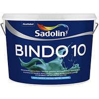 Матовая краска для стен c высокой устойчивостью к мытью BINDO 10, 10 л (тонир.база clr)
