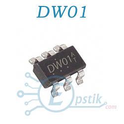 DW01, микросхема защиты аккумулятора, SOT-23-6