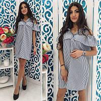 Короткое платье туника с воланом