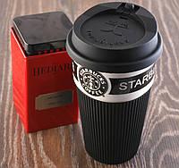 Термочашка Starbucks 400мл. Керамическая кружка Старбакс