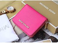 Компактный кошелек Michael Kors Mini Pink для девушек. Высокое качество. Яркий кошелек. Удобный. Код: КДН1699