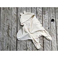 Универсальный махровый спальник-конверт 0-6 м молочный