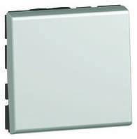 Переключатель (проходной)1-кл 2-модуля на два направел Mosaic Белый 77011