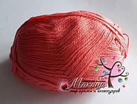 Стоковая пряжа для вязания - анти-пиллинг, коралл, 400 грамм