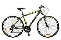 "Велосипед Leon HD-85 AM 14G 19"" Al серо-зеленый 2017"