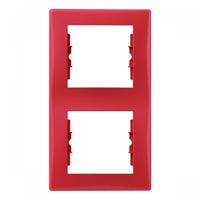Рамка 2-я вертикальная Schneider Electric Sedna Красный SDN5801141