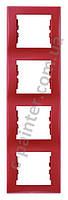Рамка 4-я вертикальная Schneider Electric Sedna Красный SDN5802041