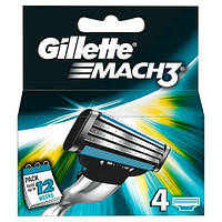 Gillette Mach3 лезвия для бритья, 4 шт.