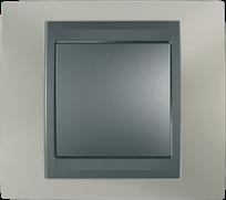 Рамка 1 пост Schneider Electric  Unica Металл Никель\графит MGU66.002.239